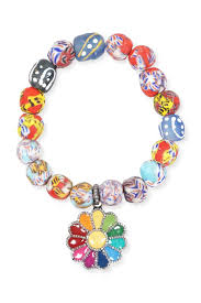 bracelet fine jewelry images The woods fine jewelry bracelet african glass with flower charm jpg