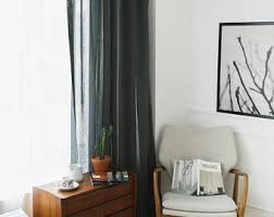 Black Sheer Curtains Sheer Curtains Etsy