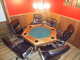 custom made dining room tables hand made poker table by cjs woodworks custommade com