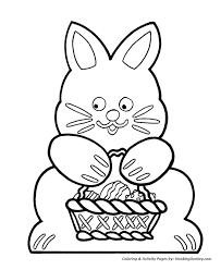easter bunny baskets easter basket coloring pages cutout easter bunny and basket