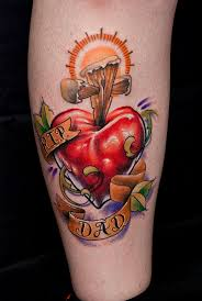 heart and cross tattoo by mattymctatty on deviantart