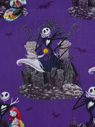 nightmare before christmas half yard halloween fabric jack