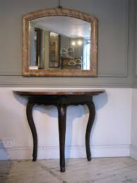 Demilune Console Table Furniture Very Nice Wooden Demilune Console Table With Mirror For