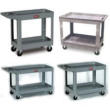 rubbermaid service cart with cabinet rubbermaid 2 shelf cart w lipped shelf 39 l beige t g