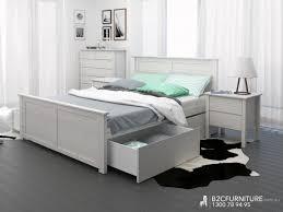 White Timber Queen Bedroom Suite Platform Bedroom Sets Queen Size Furniture Suite Laura Piece