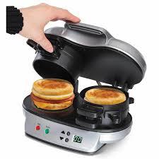 Toaster With Egg Maker Hamilton Beach Dual Breakfast Sandwich Maker 25490