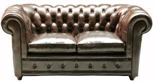 sofa kolonialstil kare oxford sofa kolonialstil zweisitzer kunstleder braun