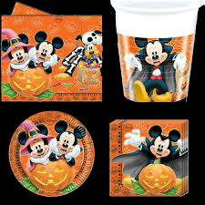 halloween kid party ideas mickey mouse halloween set disney birthday party tableware pack