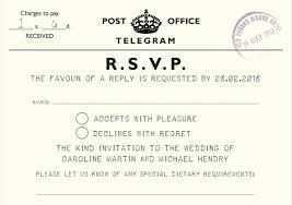 Telegram Wedding Invitation Vintage Telegram Wedding Invitations Wish Upon A Card Wish