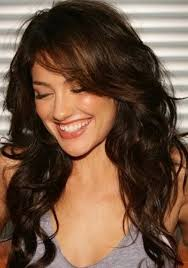 shoulder length wavy hair with bangs hairstyle picture magz