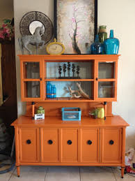 Chalk Paint Furniture Ideas by A Pop Of Barcelona Orange Chalk Paint On A Painted Cupboard By