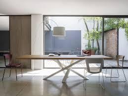 Esszimmertisch Lampe H E Rechteckiger Esstisch Aus Edelstahl Und Holz Shangai Tisch Aus