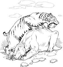 saber tooth tiger coloring pages for adults coloring page