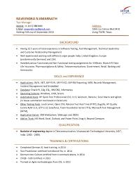Resume Open Office Raveendra N Amarnath Resume