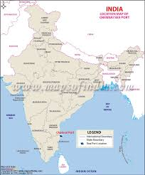 map of oregon showing madras chennai port madras port information and location map