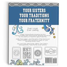 theta phi alpha coloring book college coloring books