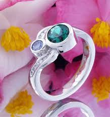 intertwined wedding rings intertwined birthstone engagement ring and wedding bands