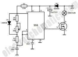 dim light bulbs with 555 ic circuit