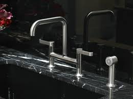 kitchen bridge faucet kitchen bridge faucet from rubinet the hexis transitional kitchen