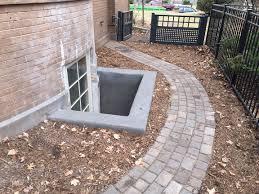 concrete egress window well harold j pietig u0026 sons inc
