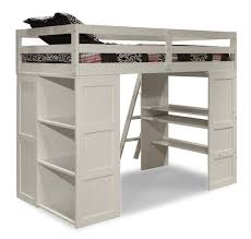 Bunk Bed With Storage And Desk White Wooden Loft Bed With Desk And Storage For Of