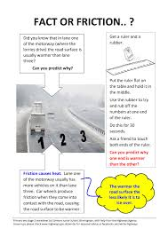 primary key stage 2 science worksheet about road surface