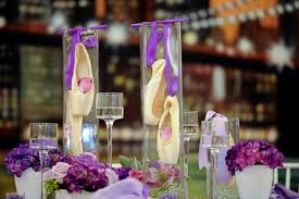 New York Themed Centerpieces by New York City Dance Theme Bar Mitzvah
