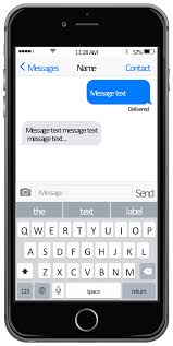 messages template iphone user interface app icons vector