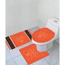 Orange Bathroom Rugs by 5 Cheapest 3 Piece Bathroom Rug Sets Under 20