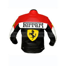 ferrari motorcycle red and black leather jacket ferrari jacket for sale