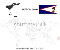 samoa in world map samoa stock images royalty free images vectors