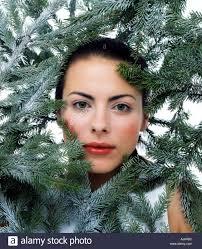 vertical woman beautiful pretty brunette frosty winter cold