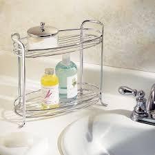 bathroom counter organization ideas 2 shelf countertop bathroom organizer get organized bathroom