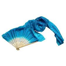 silk fans colorful made belly bamboo silk fans veils
