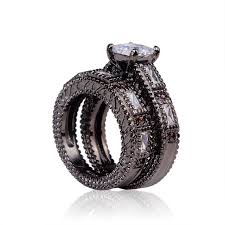 black zirconia rings images Cheap black ring 2016 women wedding rings jewelry wholesale jpg