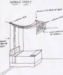 How To Make A Light Curtain How To Create Your Own Bed Canopy Canopy Alcove And Bedrooms