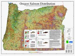 State Map Of Oregon by Oregon Salmon Distribution Map Natural Resources Information