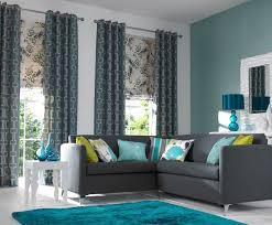 aqua blue and charcoal gray living room design paint colors