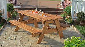 build a picnic table diy picnic table with built in cooler the home depot