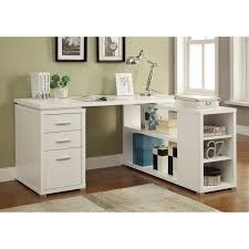 White L Shape Desk Coaster Yvette Collection L Shaped Reversible Desk