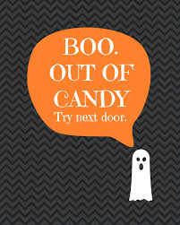 diy printable u0027boo out of candy u0027 sign