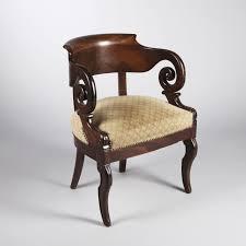 bureau en acajou fauteuil de bureau en acajou epoque restauration 2016120034