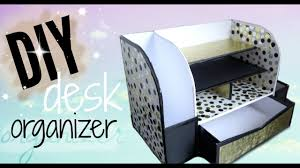 Desk Organizer Diy Diy Cardboard Desk Organizer Affordable