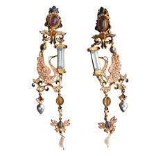 percossi papi earrings percossi papi couture swan earrings 1970s sarara couture