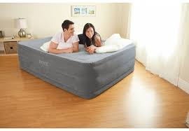 Inflatable Bed With Frame 22in Queen Dura Beam Comfort Plush High Rise Airbed With Built In
