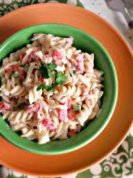 Homemade Pasta Salad by Secret Recipe Club Pimento Cheese Pasta Salad La Cocina De Leslie