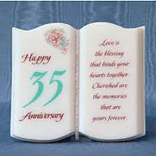 35 wedding anniversary happy 35th anniversary findgift