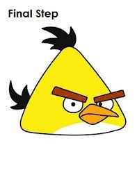 draw angry birds yellow