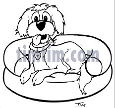 free drawing of a dog bed bw2 from the category pets timtim com