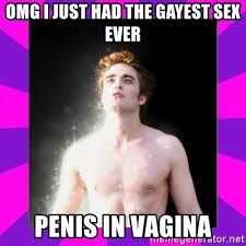Gayest Meme Ever - omg i just had the gayest sex ever penis in vagina glittering